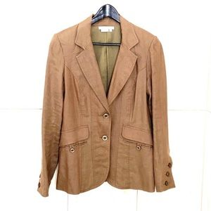 To the Max Brown Linen Blazer Size M